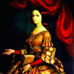 Fotografia de Sor Juana Inés de la Cruz en Flores raras