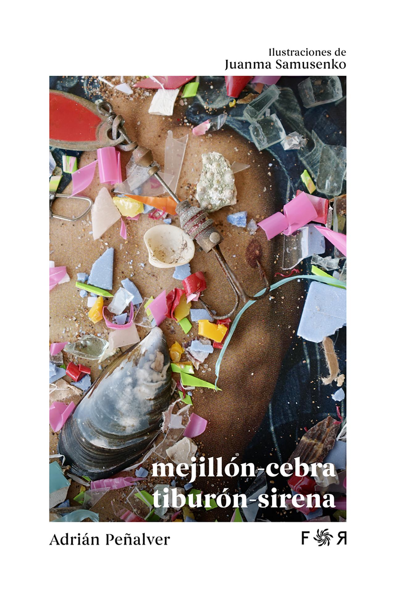 Cubierta de mejillón-cebra / tiburón-sirena en la Editorial Flores raras