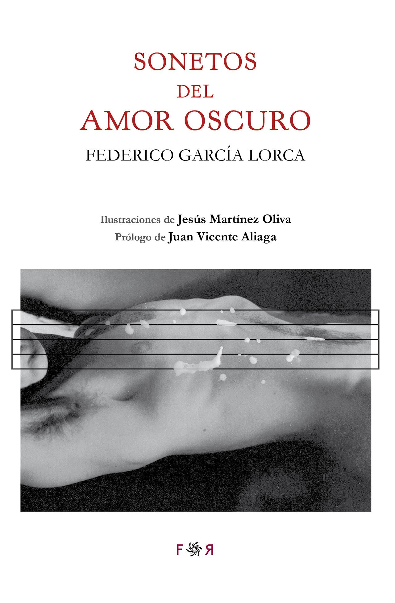 Cubierta de Sonetos del amor oscuro en la Editorial Flores raras